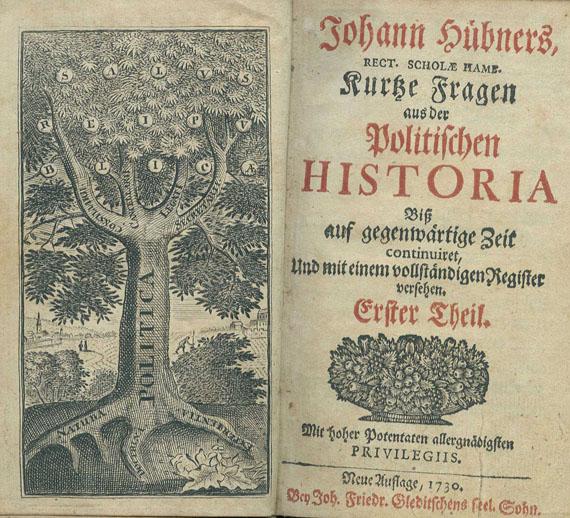Johann Hübner - Kurze Fragen. 11 Bde. 1712-1730