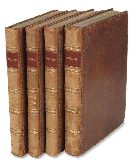 Georg W. Knorr - Recueil des monumens des catastrophes. 4 Bde. 1768-1778 -