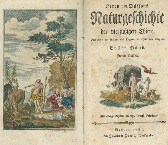 Georges Louis Lerclerc Buffon - Naturgeschichte der vierfüßigen Thiere. 19 Bde. 1773-1801