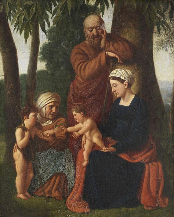 Nazarener - Die Heilige Familie mit der heiligen Elisabeth und dem Johannesknaben