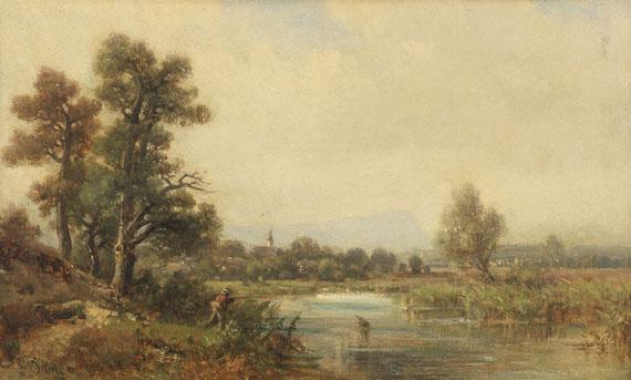 Ludwig Sckell - Kleine Flußlandschaft