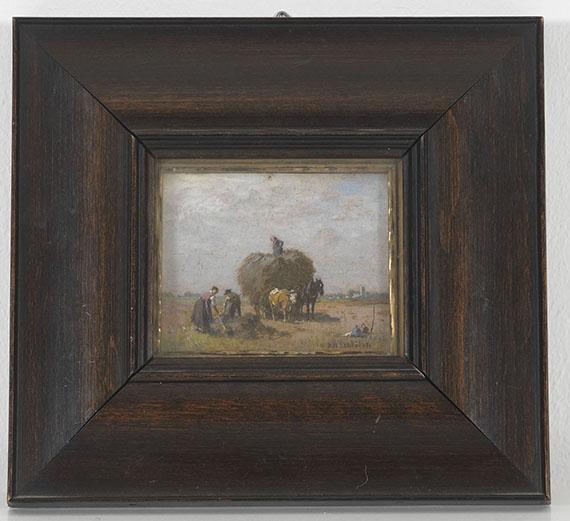 Robert Schleich - Heuernte - Rahmenbild