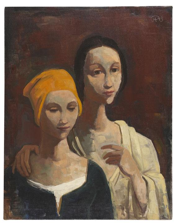 Karl Hofer - Porträt von zwei jungen Frauen