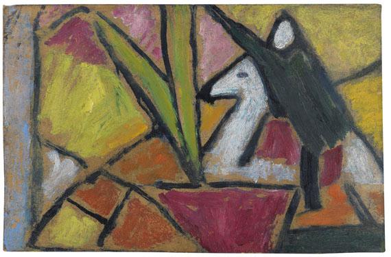 Alexej von Jawlensky - Ohne Titel, Fragment (Stillleben mit grünem Reiter)