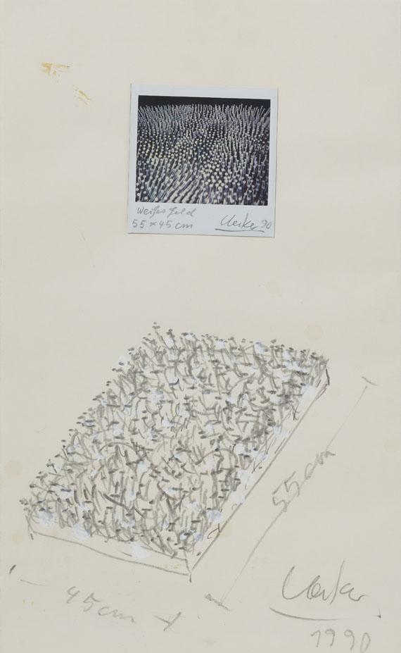 Günther Uecker - Weißes Feld (Weißer Wind) - Weitere Abbildung