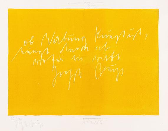Joseph Beuys - und Jonas Hafner. Schwelle