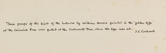William Morris - An address delivered by William Morris at the distribution...Probedruck.