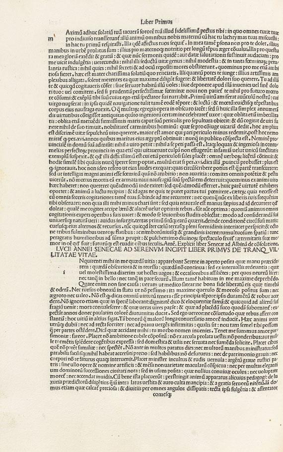 Lucius Annaeus Seneca - Opera Philosophica. 2 Tle in 1 Bd.