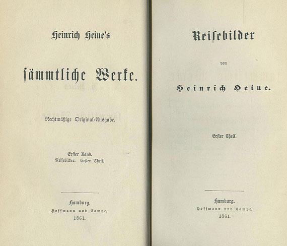 Heinrich Heine - Sämtliche Werke. 23 Bde. 1861 ff