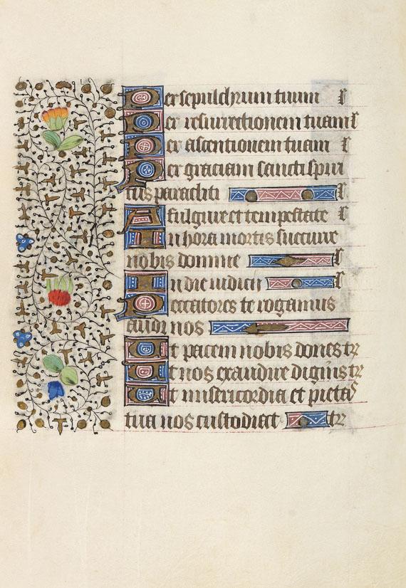 Manuskript - Stundenbuch. Paris um 1450. Manuskript auf Pergament. -