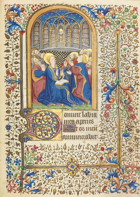 Manuskript - Stundenbuch. Paris um 1450. Manuskript auf Pergament.