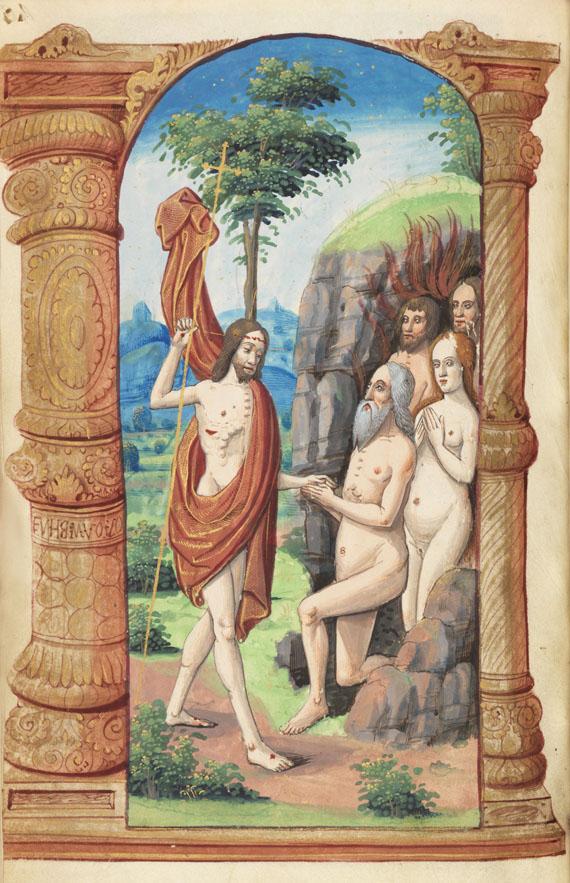 Manuskripte - Stundenbuch um 1500. Manuskript auf Pergament. -