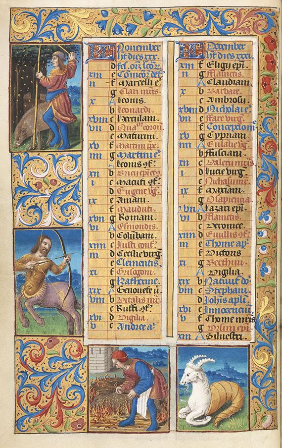 Manuskripte - Stundenbuch um 1500. Manuskript auf Pergament.