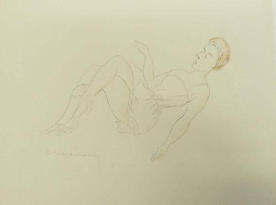 Rudolf Grossmann - 17 Bll. versch. Graphiken (Erotica, Porträts).