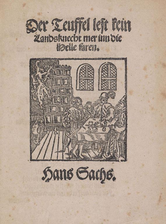 Hans Sachs - Der Teuffel lest kein Landsknecht. 1559.