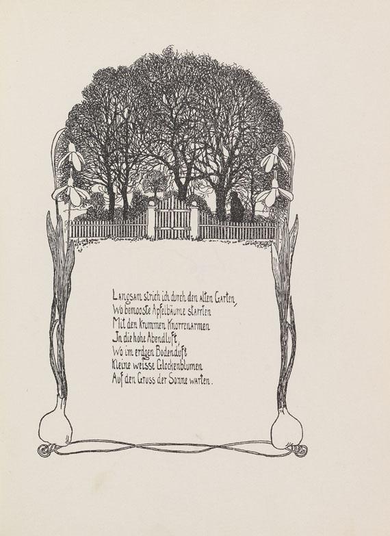 Heinrich Vogeler - Dir. Gedichte.
