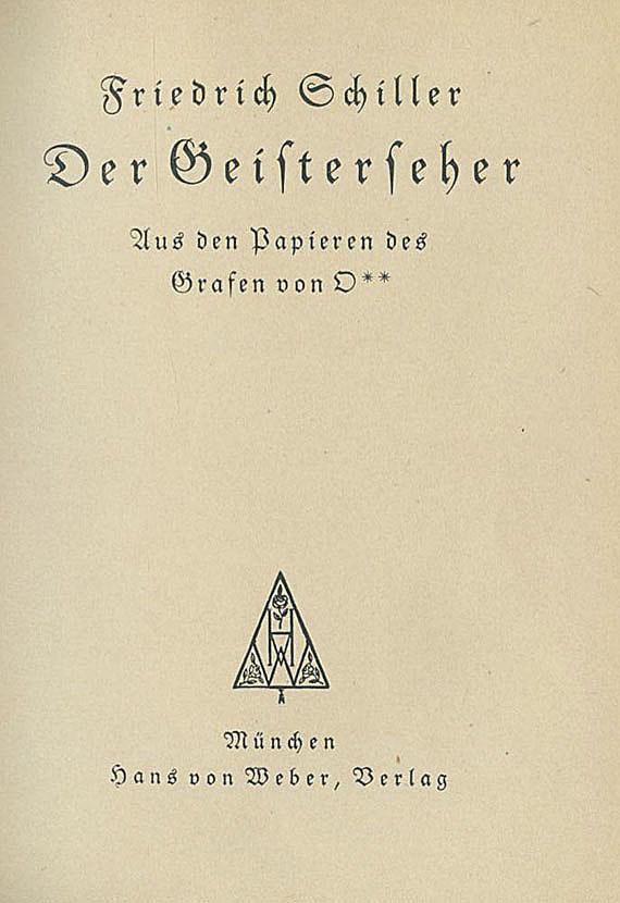 Dreiangel-Drucke - Schiller, Fr. von, Der Geisterseher.