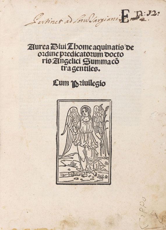 Thomas von Aquin - Summa cotra gentiles.