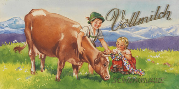 Schokolade - 29 Bll. Entwürfe für Schokoladeneinschläge. - Weitere Abbildung