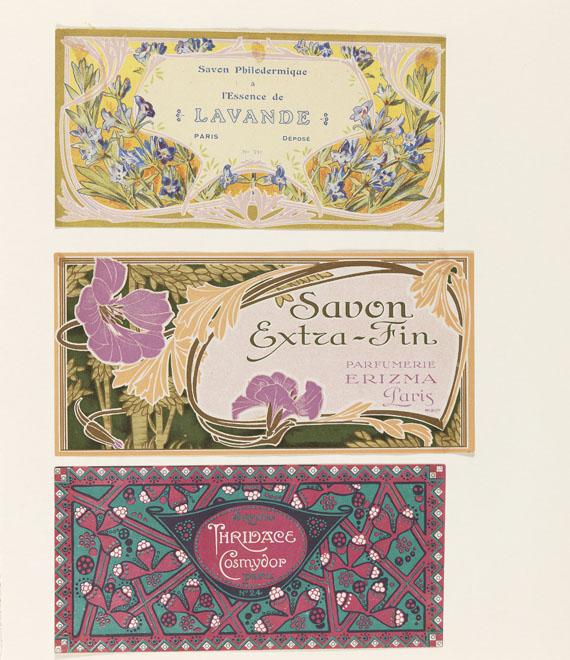 Etiketten - Album mit Etiketten f. Seifen, Parfum.
