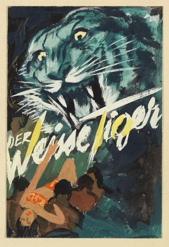 Plakate - 24 Bll. Entwurfzeichnungen f. Filmplakate.