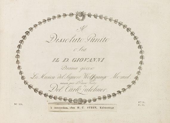 Musik - Mozart, W. A., Il dissoluto punito o sia il D. Giovanni. Drama giocoso - 1 addition (Zauberflöte)