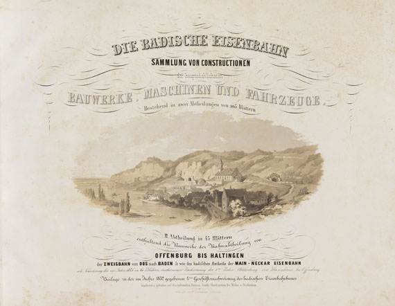 Eisenbahn - Die badische Eisenbahn. 2 Bde.