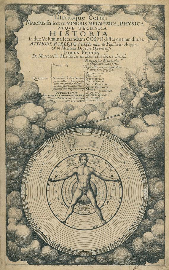 Alchemie und Okkulta - Fludd, R., Utriusque Cosmi. Historia. Teil 1 (von 2).