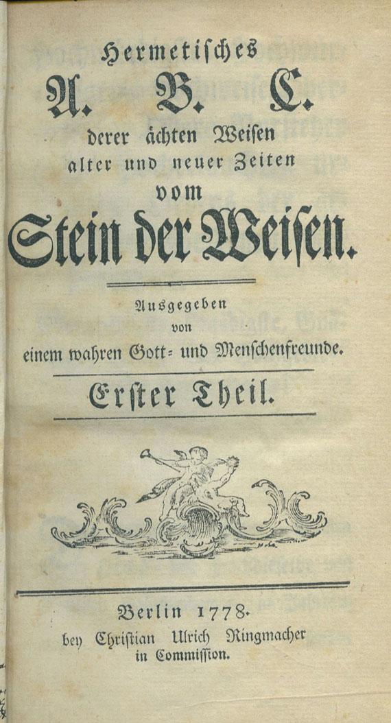 Alchemie und Okkulta - Hermetisches A.B.C. 4 Bde.