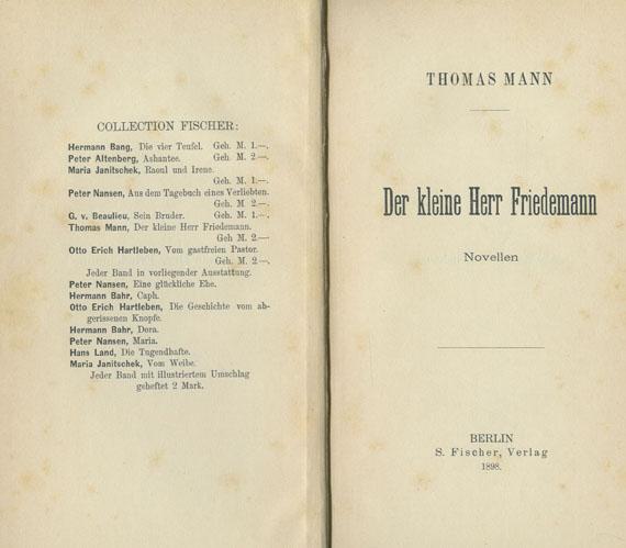 Thomas Mann - Der kleine Herr Friedemann.