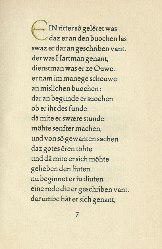 Ernst Ludwig-Presse - Hartmann von Aue- Der arme Heinrich