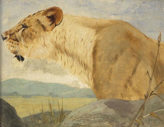Wilhelm Kuhnert - Kopf einer Löwin
