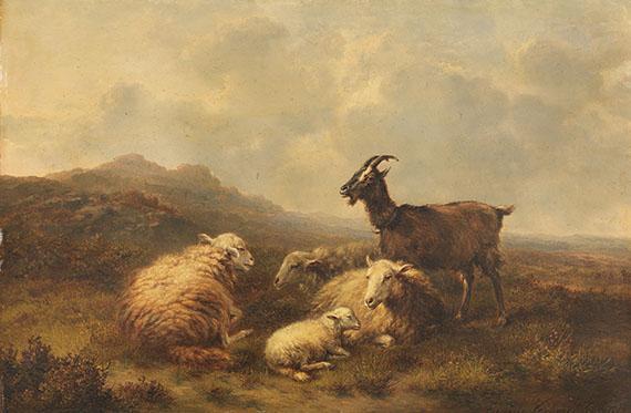 Eugène Joseph Verboeckhoven - Schafe und Ziegen auf der Weide