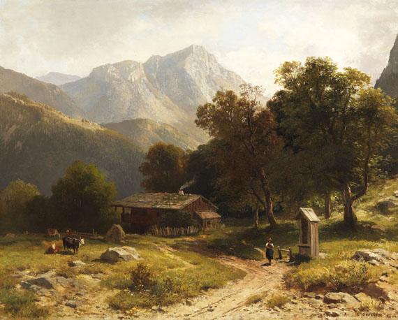 Ludwig Gebhardt - Sommerliche Alpenidylle