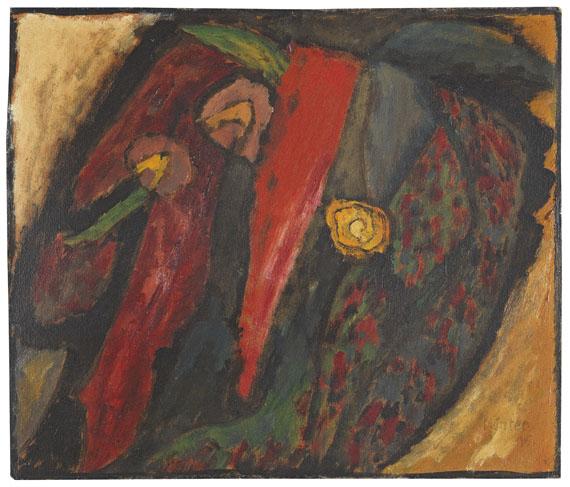 Gabriele Münter - Farbstudie 1915 mit Rot und Gelb