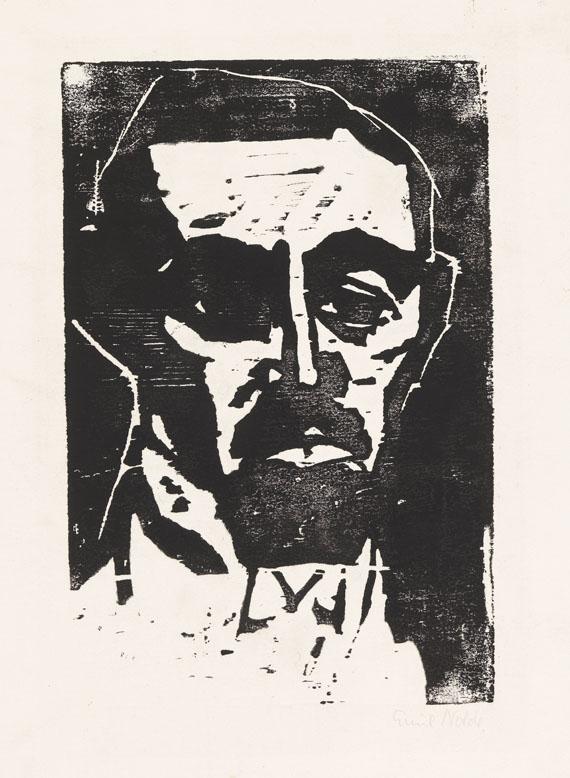 Emil Nolde - Dr. L. (Portrait Dr. Leber)