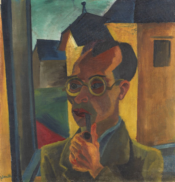 Conrad Felixmüller - Porträt des Malers Alois Erbach