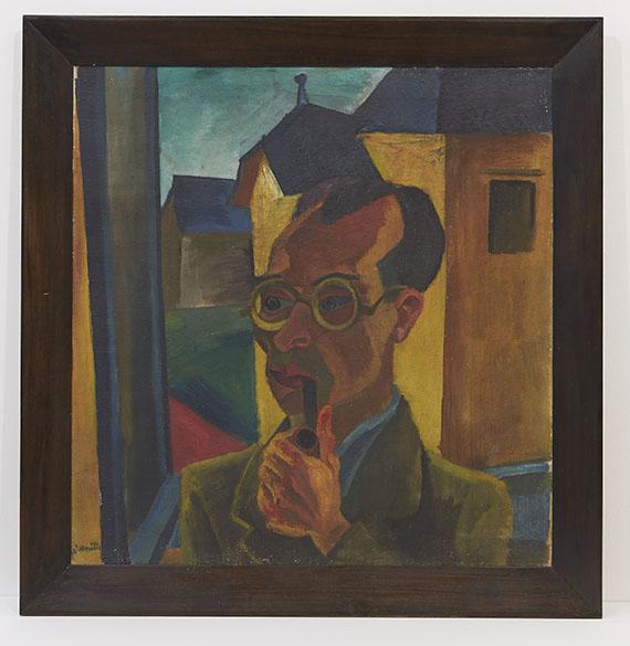 Conrad Felixmüller - Porträt des Malers Alois Erbach - Frame image