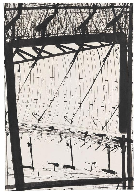 K.R.H. (d.i. Kurt R. Hoffmann) Sonderborg - Pinceau, bambou et plume d´oie