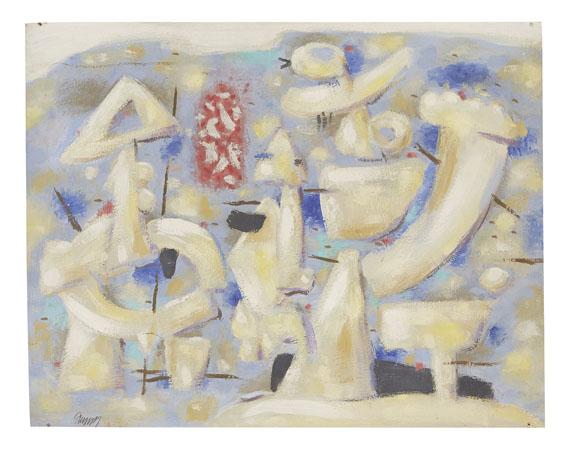 Willi Baumeister - Figuren auf Blau