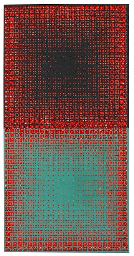 - Rote Quadrate auf Schwarz