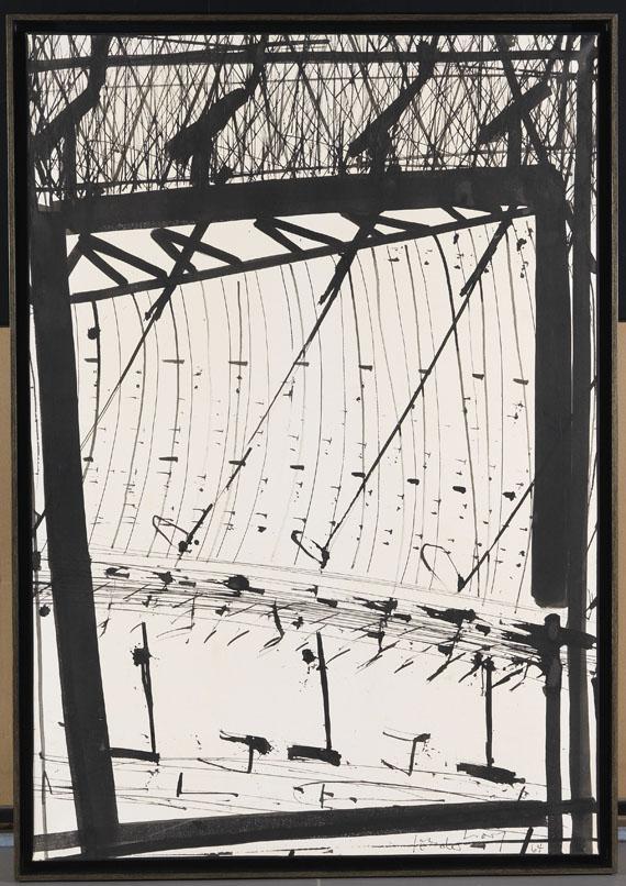 K.R.H. (d.i. Kurt R. Hoffmann) Sonderborg - Pinceau, bambou et plume d´oie - Rahmenbild