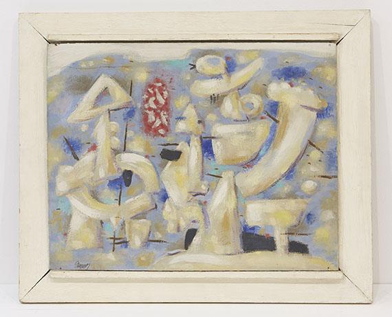 Willi Baumeister - Figuren auf Blau - Frame image