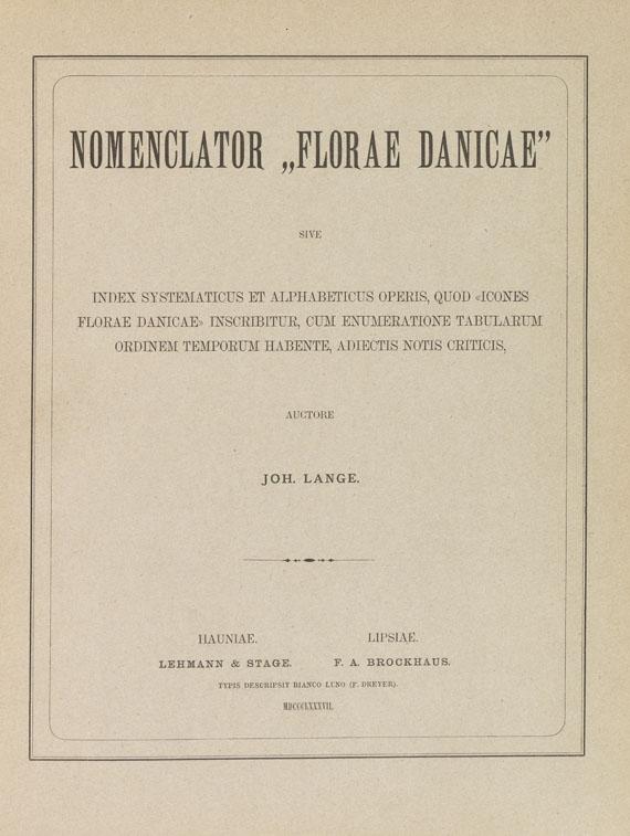 Flora Danica - Nomenclator Florae Danicae