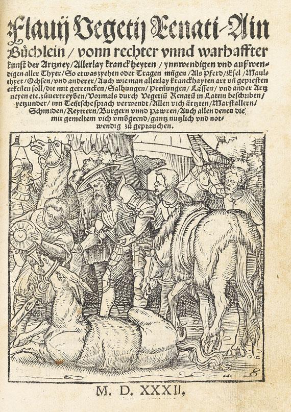Augsburg - Sammelband Holzschnittbücher. 1529-32