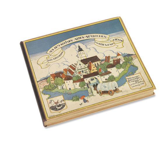Else Wenz-Viëtor - Aus dem kleinen alten Städtchen. Buch und 28 Figuren.