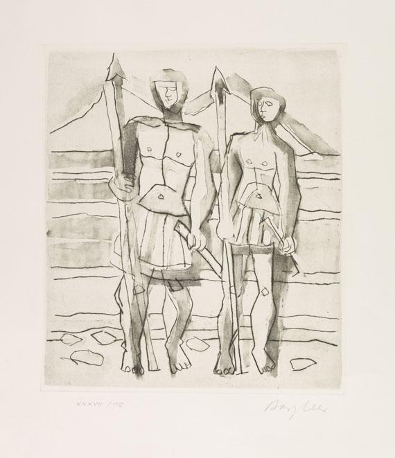"Eduard Bargheer - Zehn Aquatinta-Radierungen zur ""Antigone"" des Sophokles"