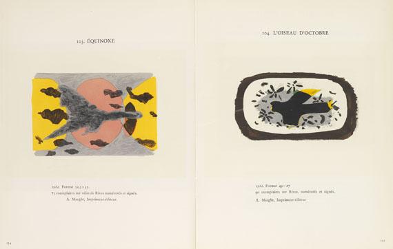 Pablo Picasso - Geiser, Bernhard, Monographie. 2 Bde. Dabei: Ponge, Francis, Braque lithographe.