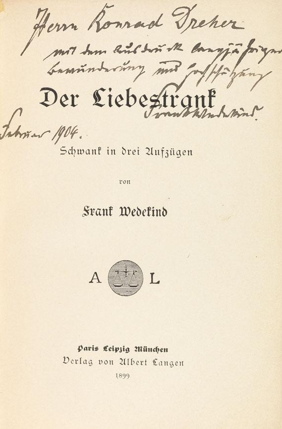 Frank Wedekind - Der Liebestrank