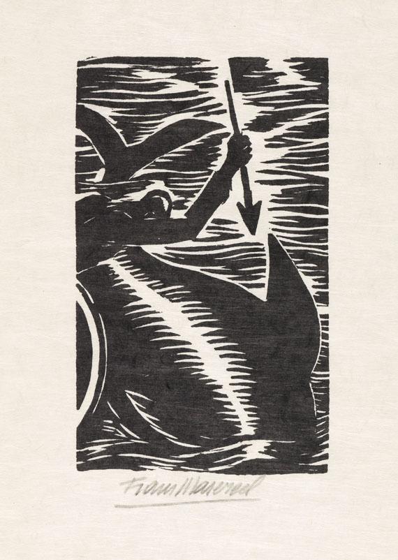 Frans Masereel - Acht Original-Holzschnitte zu Hemingway Der alte Mann und das Meer